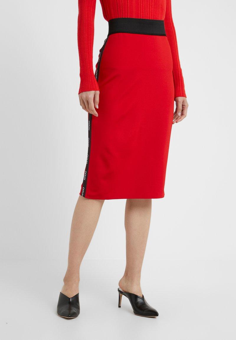 HUGO - NEEMA - Pencil skirt - red