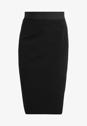 NEEMA - Pencil skirt - black/white