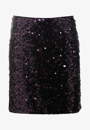 ROMMIE - Pouzdrová sukně - dark purple
