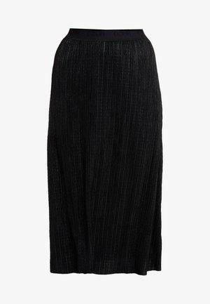 DAMERA - Áčková sukně - black
