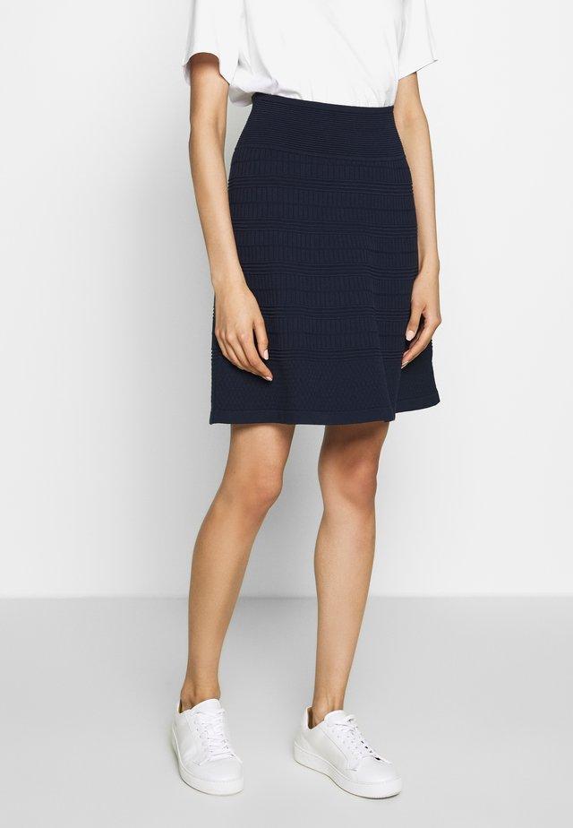 SHANAHAN - A-line skirt - open blue