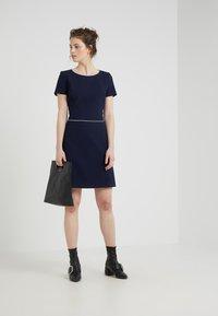 HUGO - KATNISS - Strikket kjole - open blue - 1