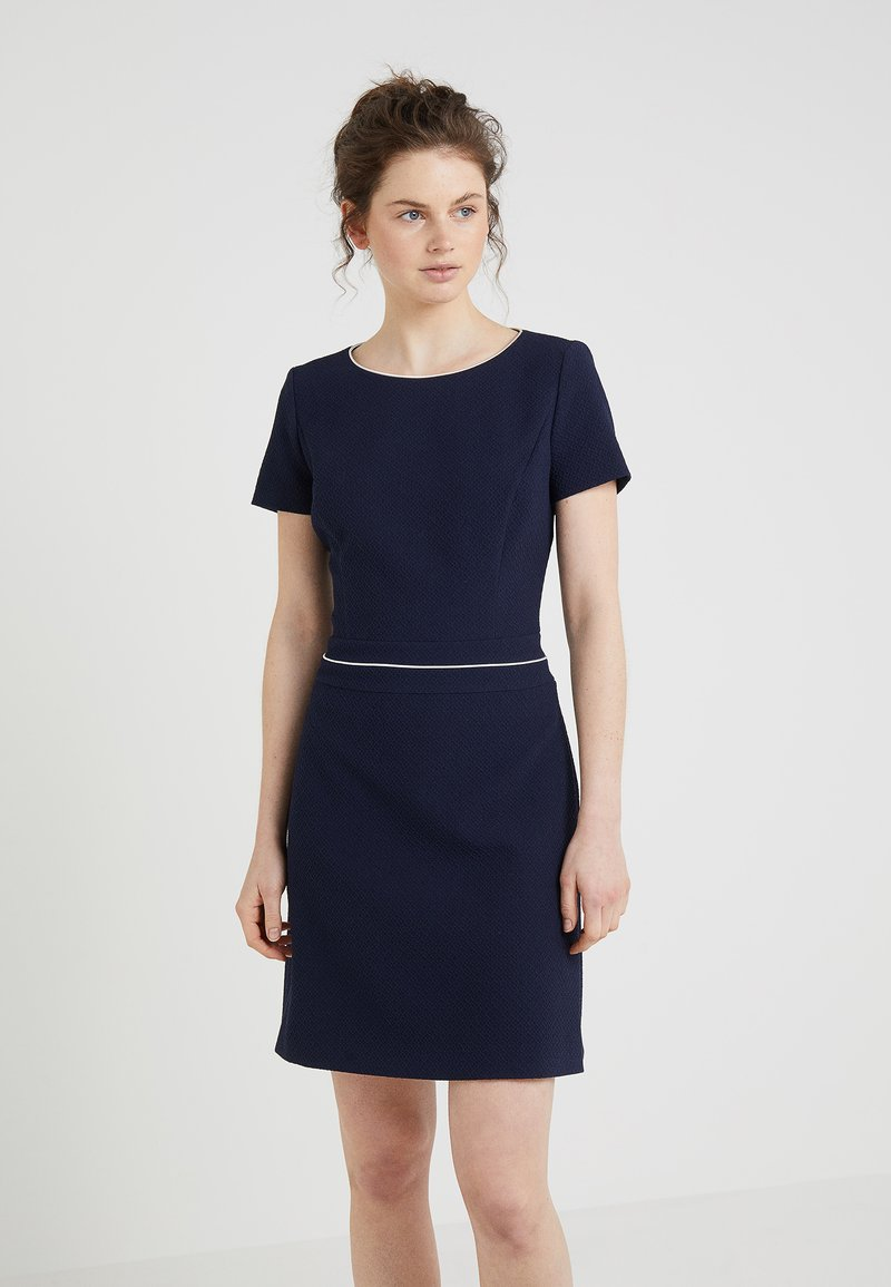 HUGO - KATNISS - Strikket kjole - open blue