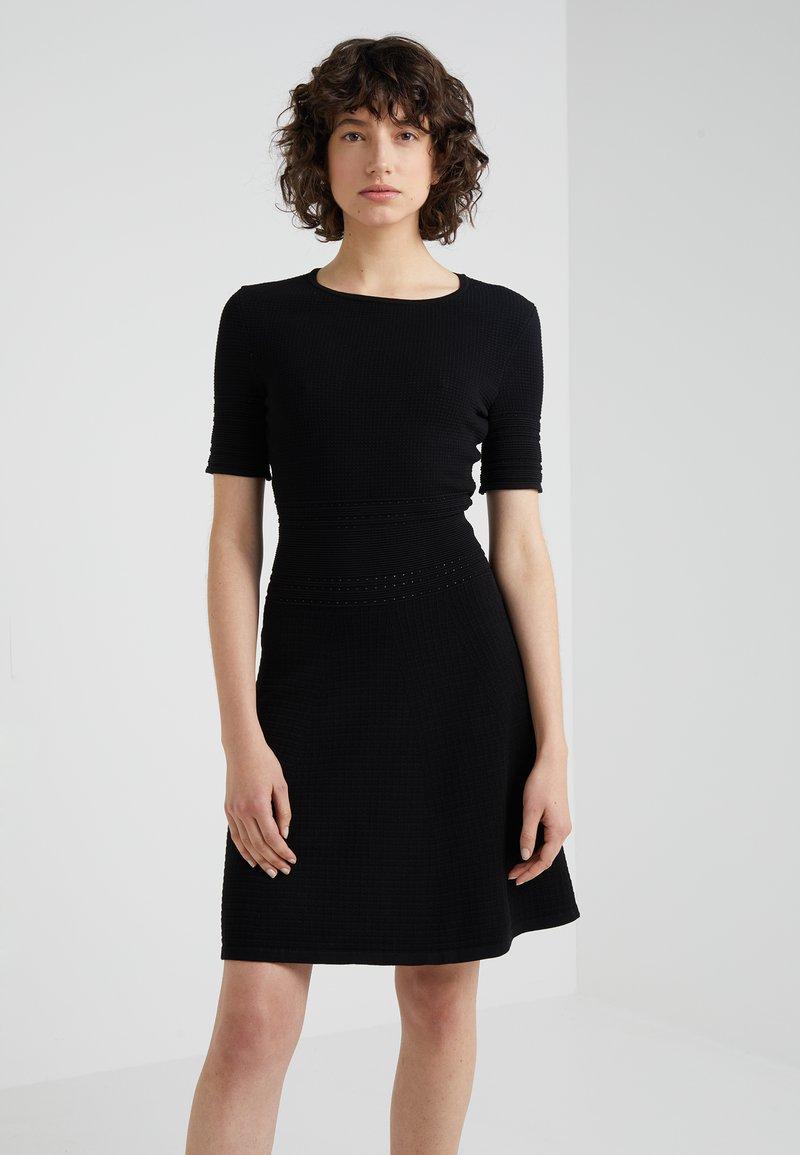 HUGO - SAWARY - Strikket kjole - black