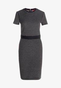 HUGO - NIFANA  - Pouzdrové šaty - black/white - 3