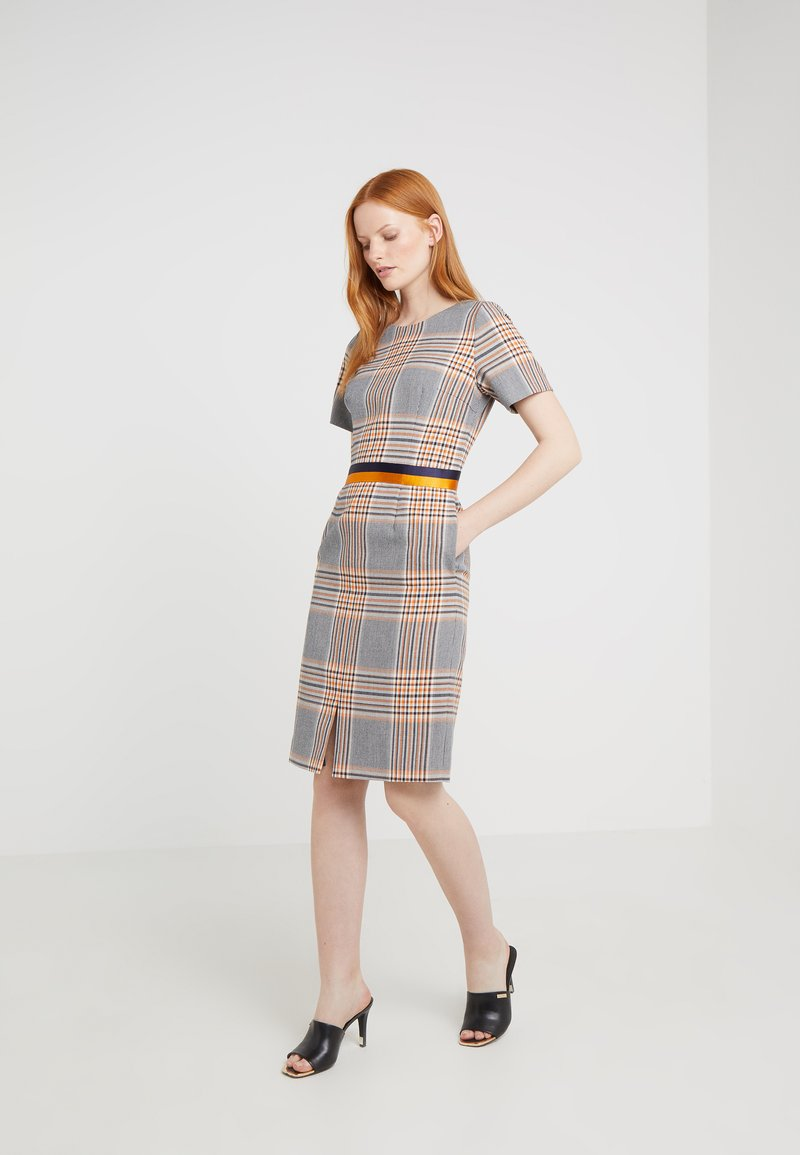HUGO - KONI - Shift dress - dark blue/orange