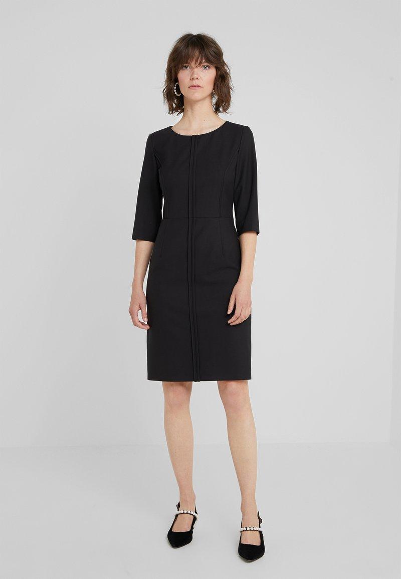 HUGO - KURENA - Pouzdrové šaty - black
