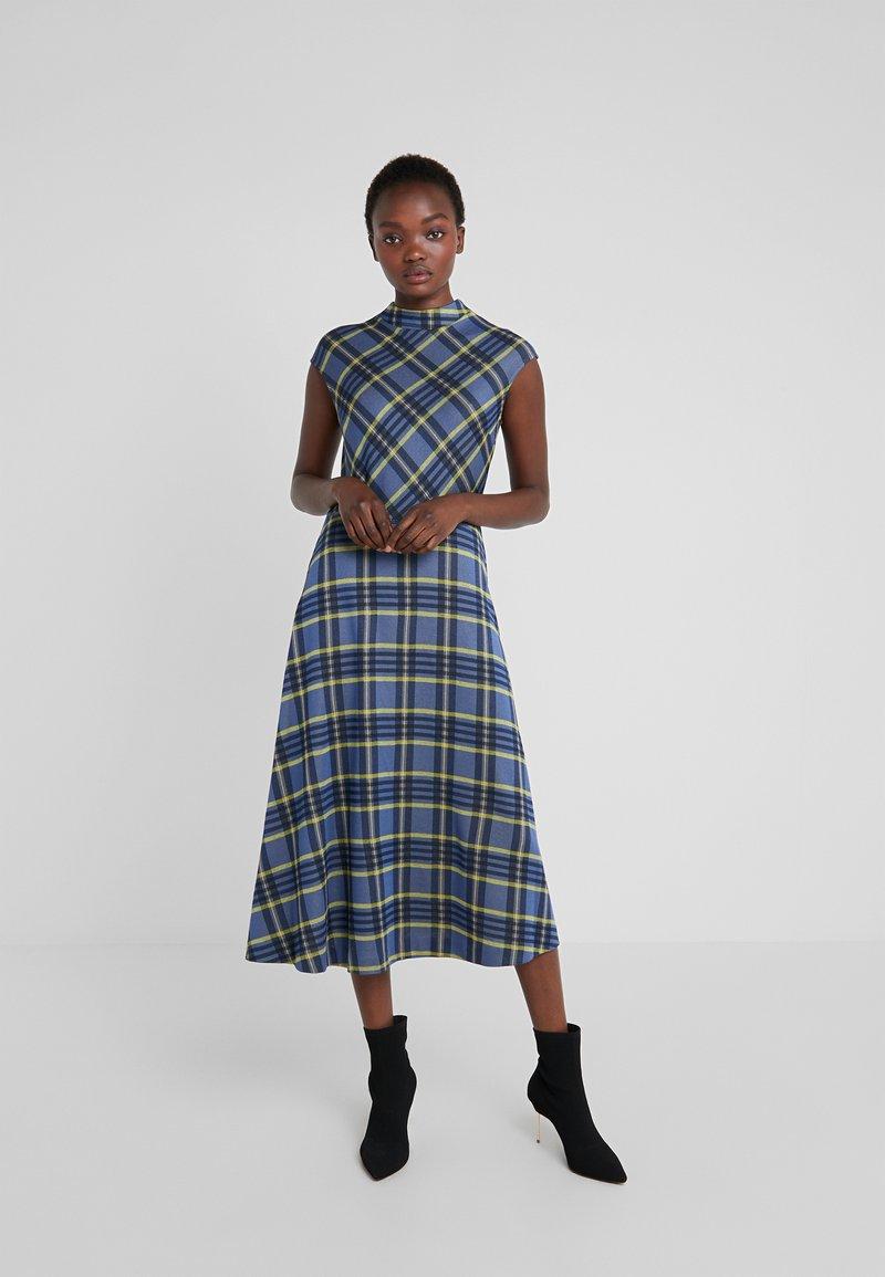 HUGO - NARILA - Strikket kjole - open blue
