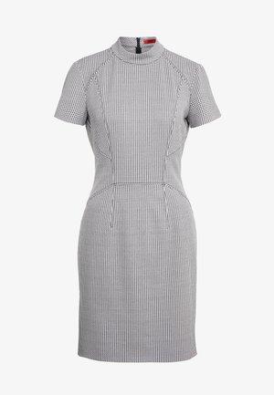 KABECCI - Shift dress - white/black