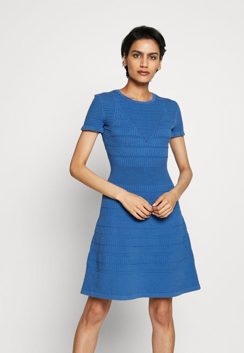 HUGO - SATORINY - Jumper dress - bright blue