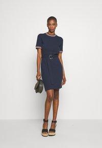 HUGO - NIELE - Shift dress - open blue - 1