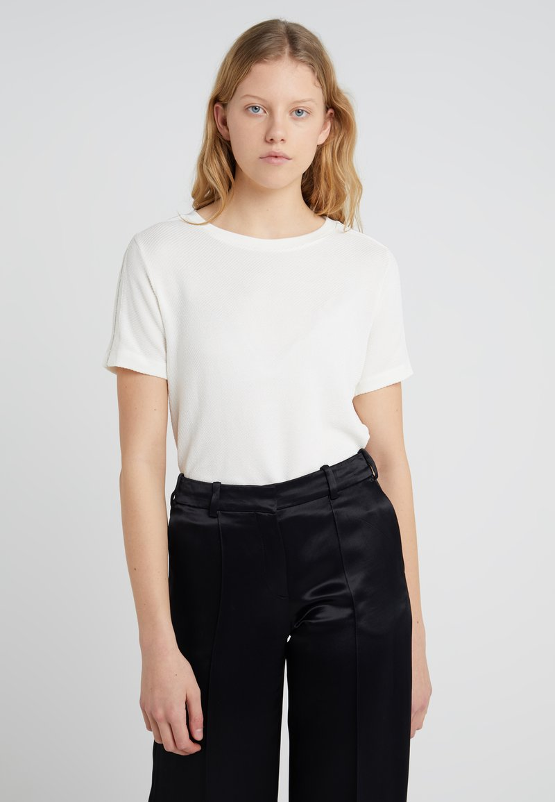 HUGO - NETORA - T-shirt print - natural