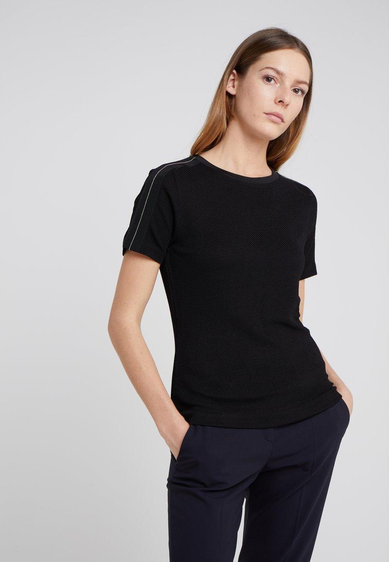 HUGO - NETORA - Print T-shirt - black