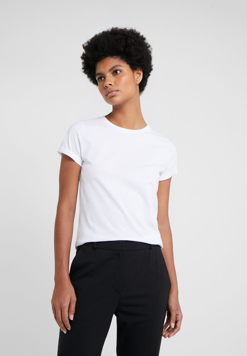 HUGO - THE PLAIN TEE - T-shirts - white