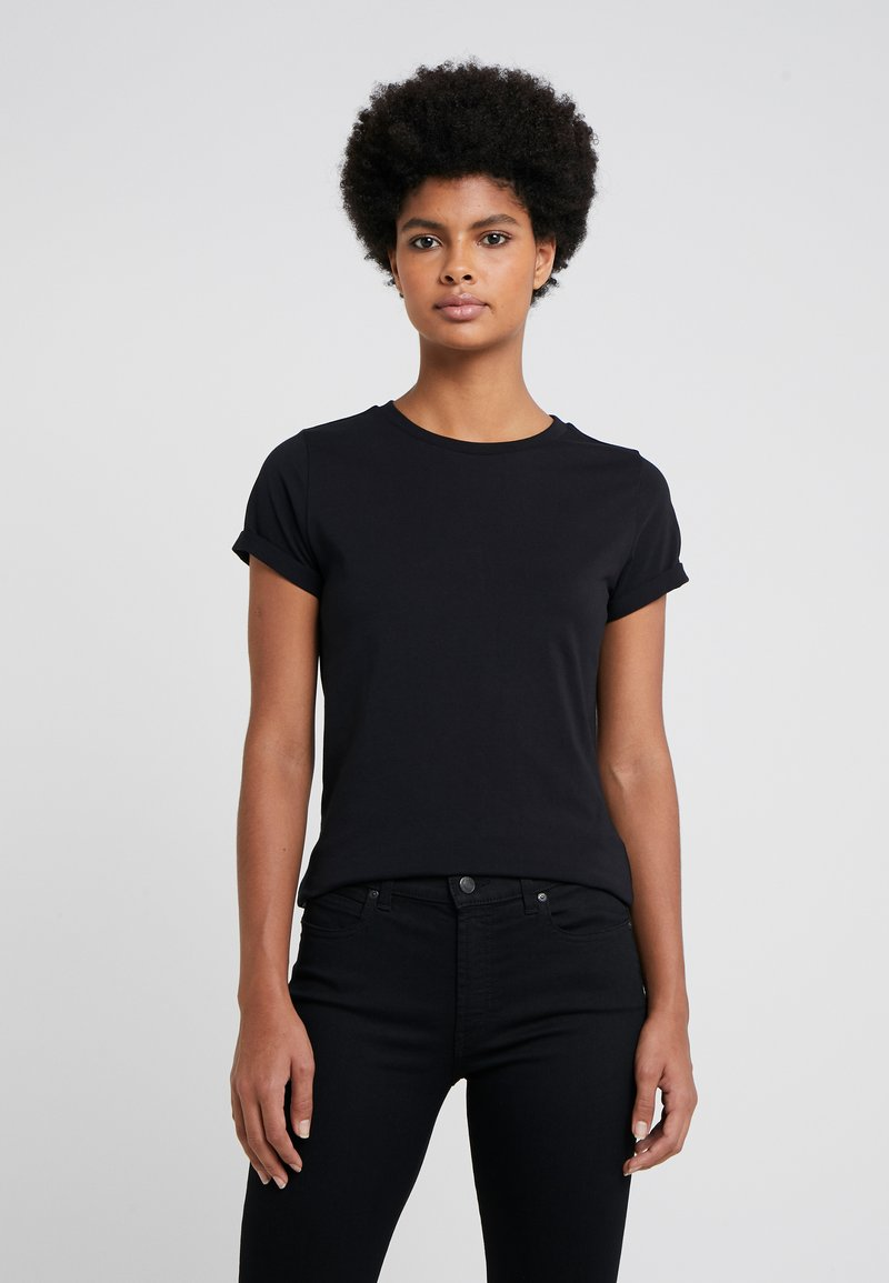 HUGO - THE PLAIN TEE - T-shirts - black