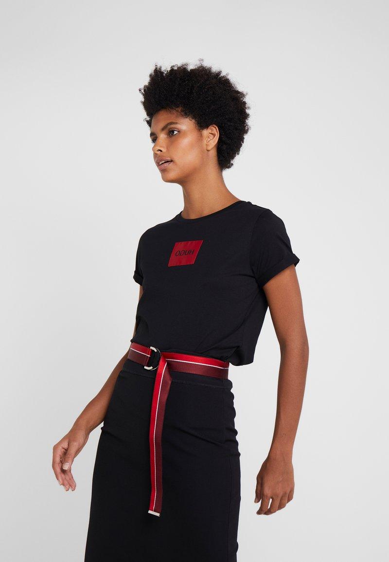 HUGO - DENNJA - T-Shirt print - black