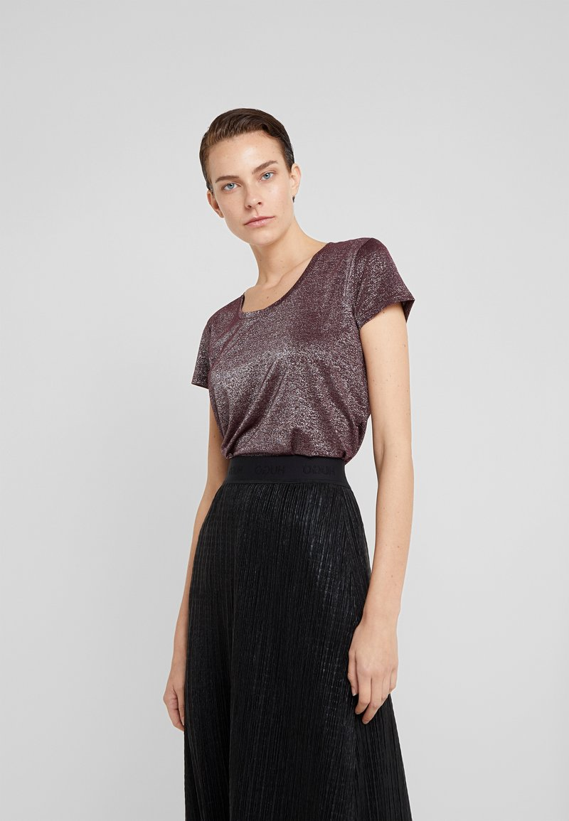 HUGO - DENOLE - T-shirt print - medium red