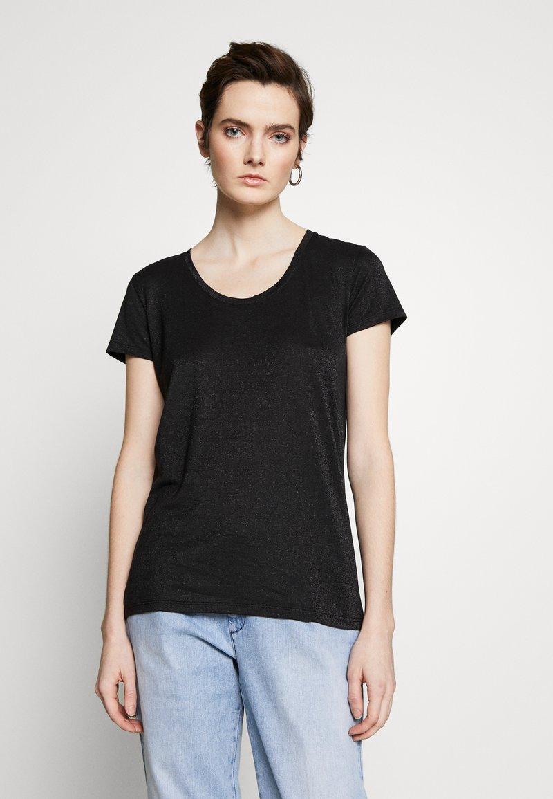 HUGO - DENOLE - Jednoduché triko - black