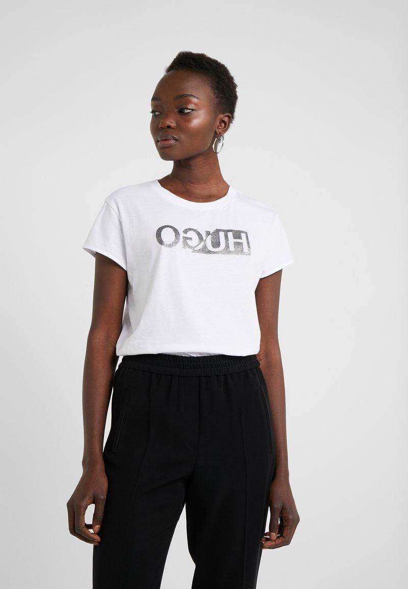 HUGO - DIJALA - T-shirt print - white