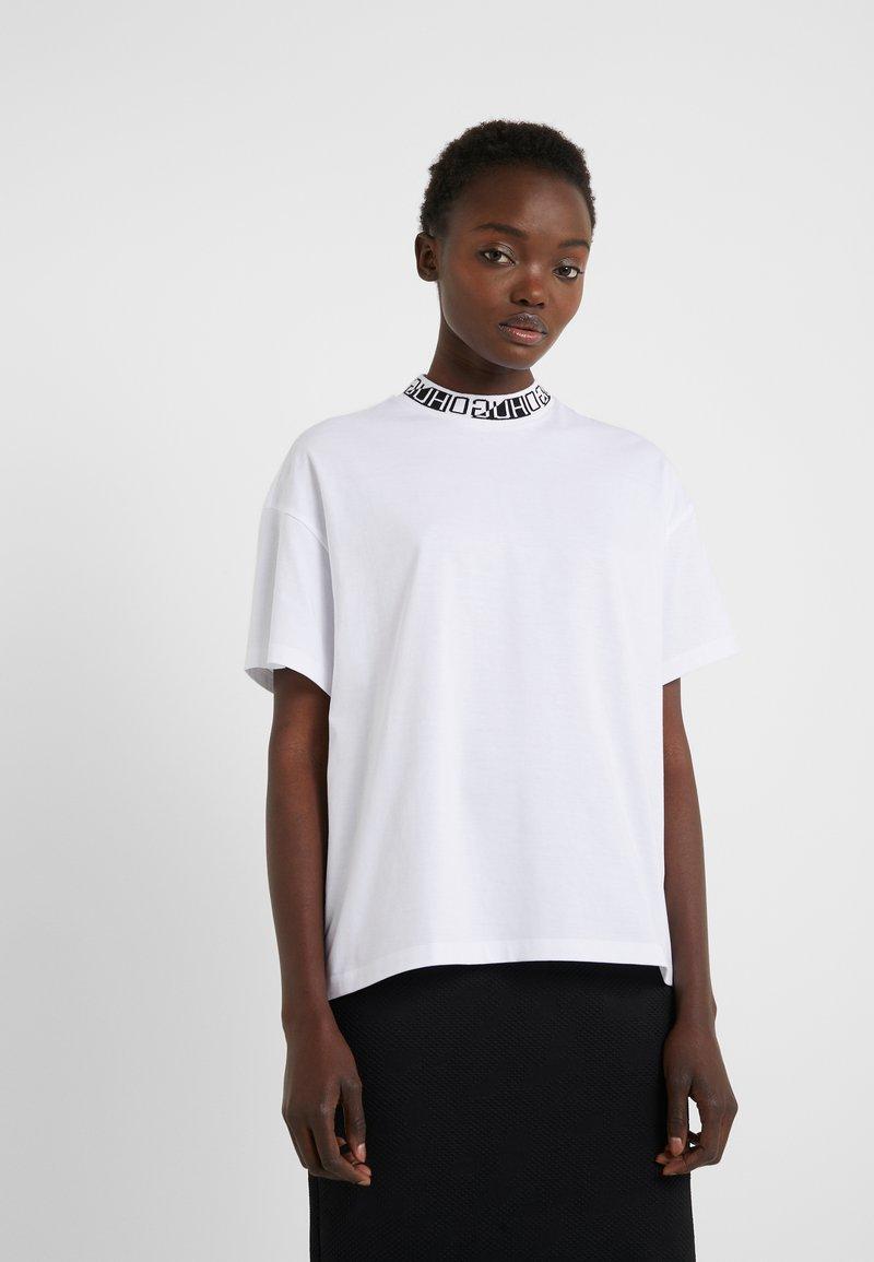 HUGO - DORENE - Camiseta estampada - white