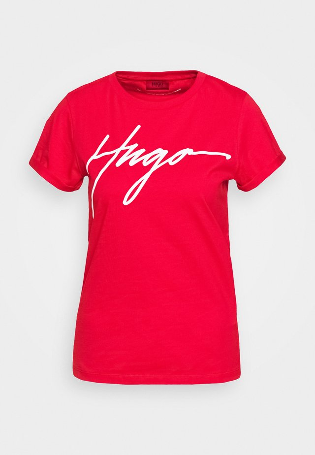 THE SLIM TEE - T-shirt imprimé - bright red