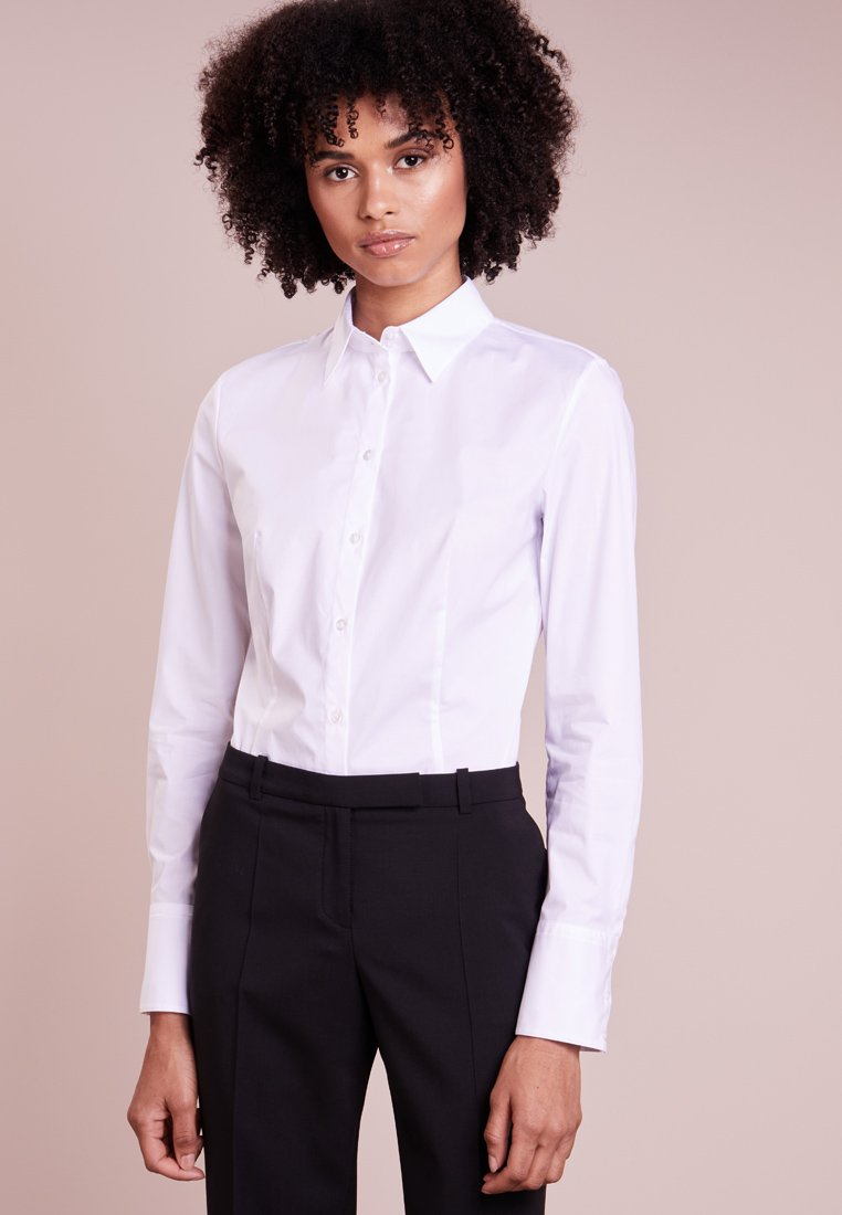 HUGO - ETRIXE - Button-down blouse - open white