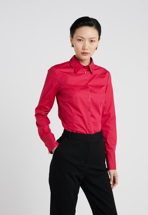 ETRIXE - Button-down blouse - open red