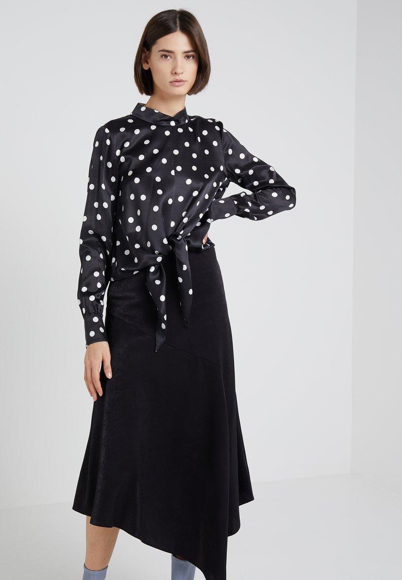 HUGO - CATINI - Bluse - black/white
