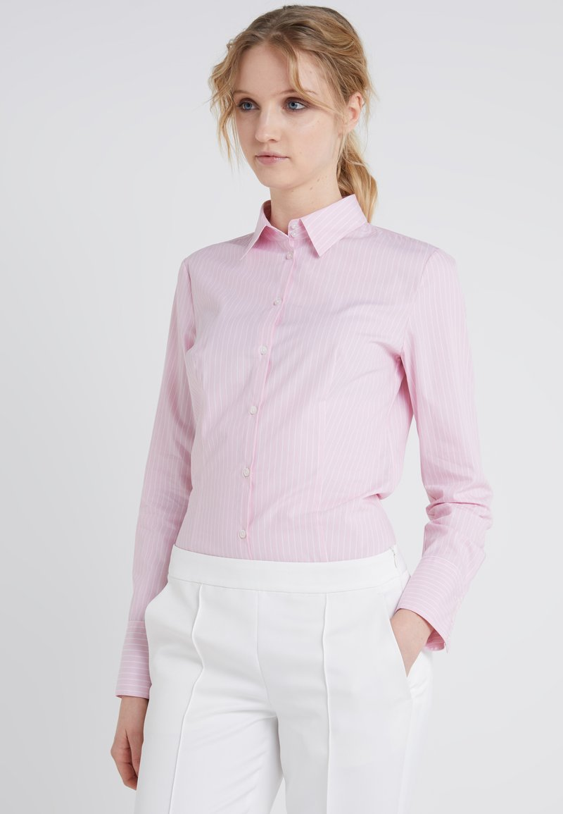 HUGO - ETRIXE - Button-down blouse - bright pink
