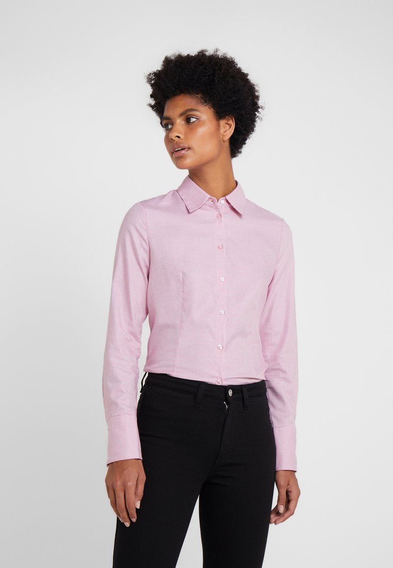 HUGO - THE FITTED SHIRT - Button-down blouse - open red
