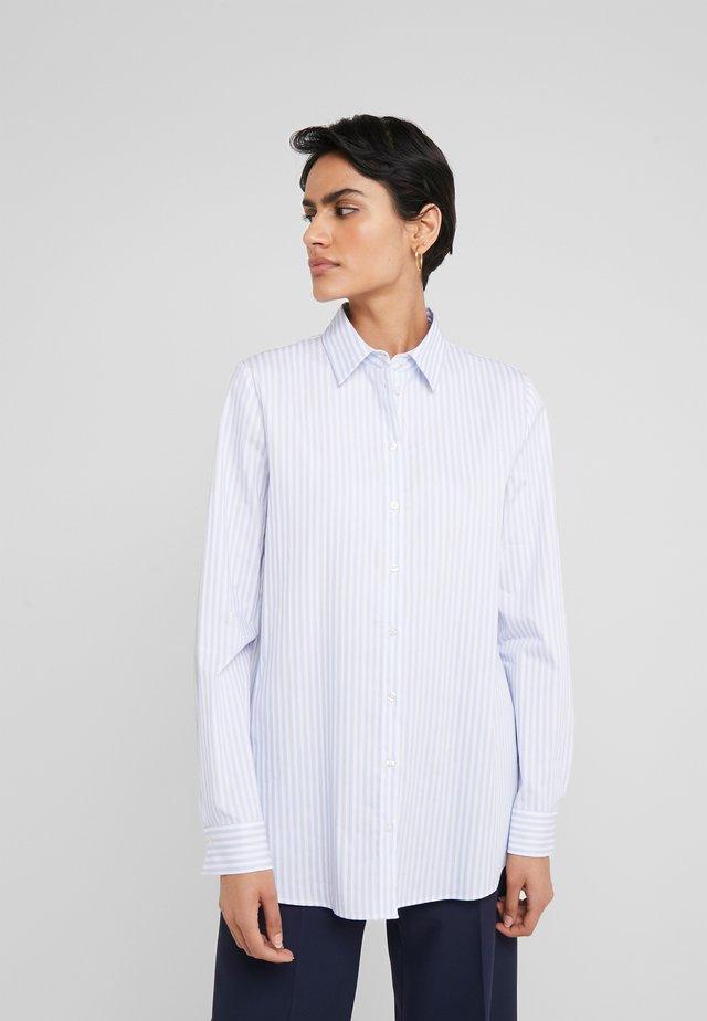 ELIFIA - Button-down blouse - white/light blue