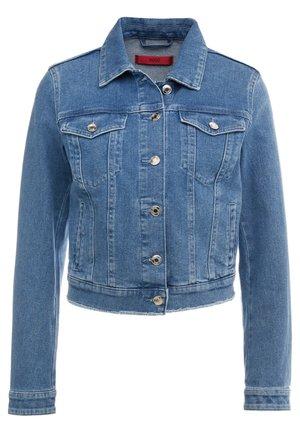 GESSINA - Denim jacket - turquoise/aqua