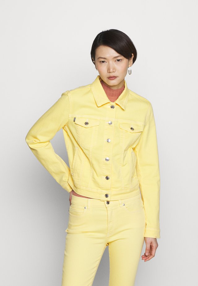 ALEX - Denim jacket - light/pastel yellow