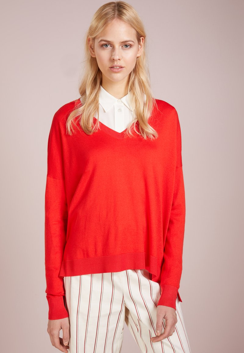 HUGO - SANICE - Strickpullover - medium red