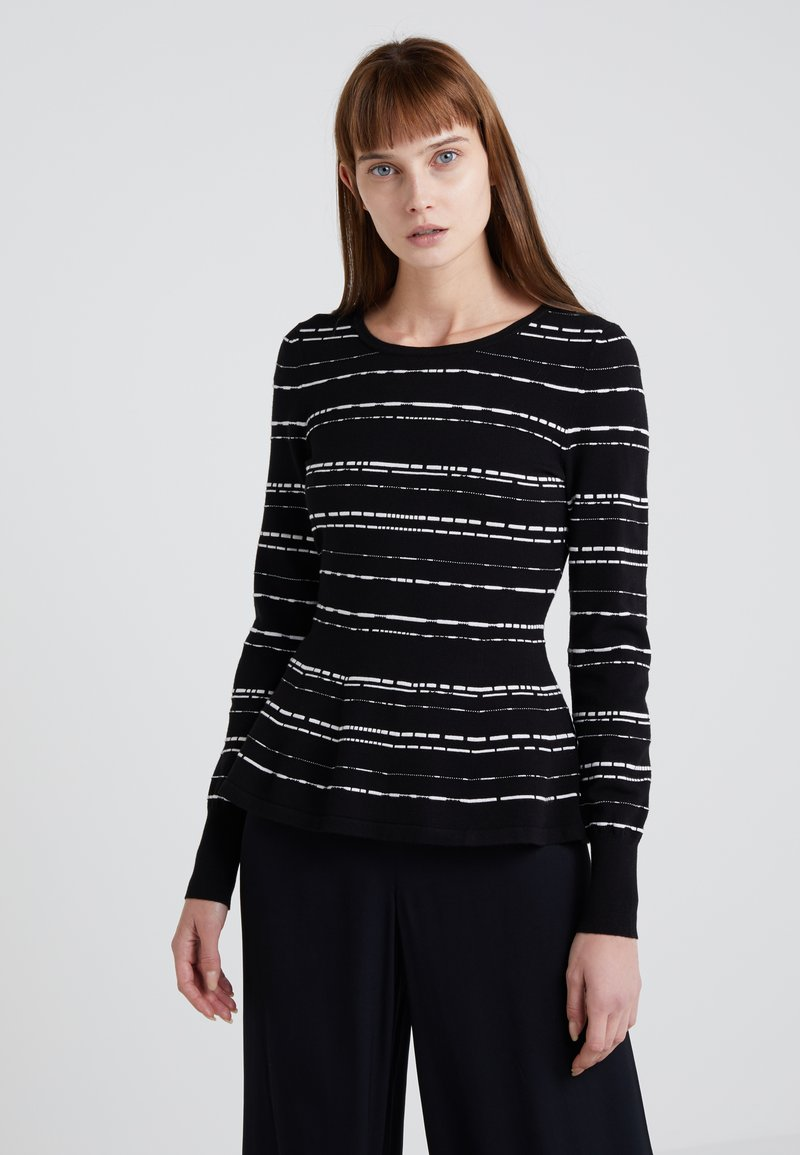 HUGO - SHONOMA - Strickpullover - black/white