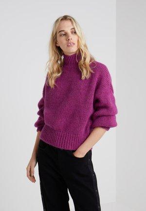 SACIA - Strikkegenser - bright purple