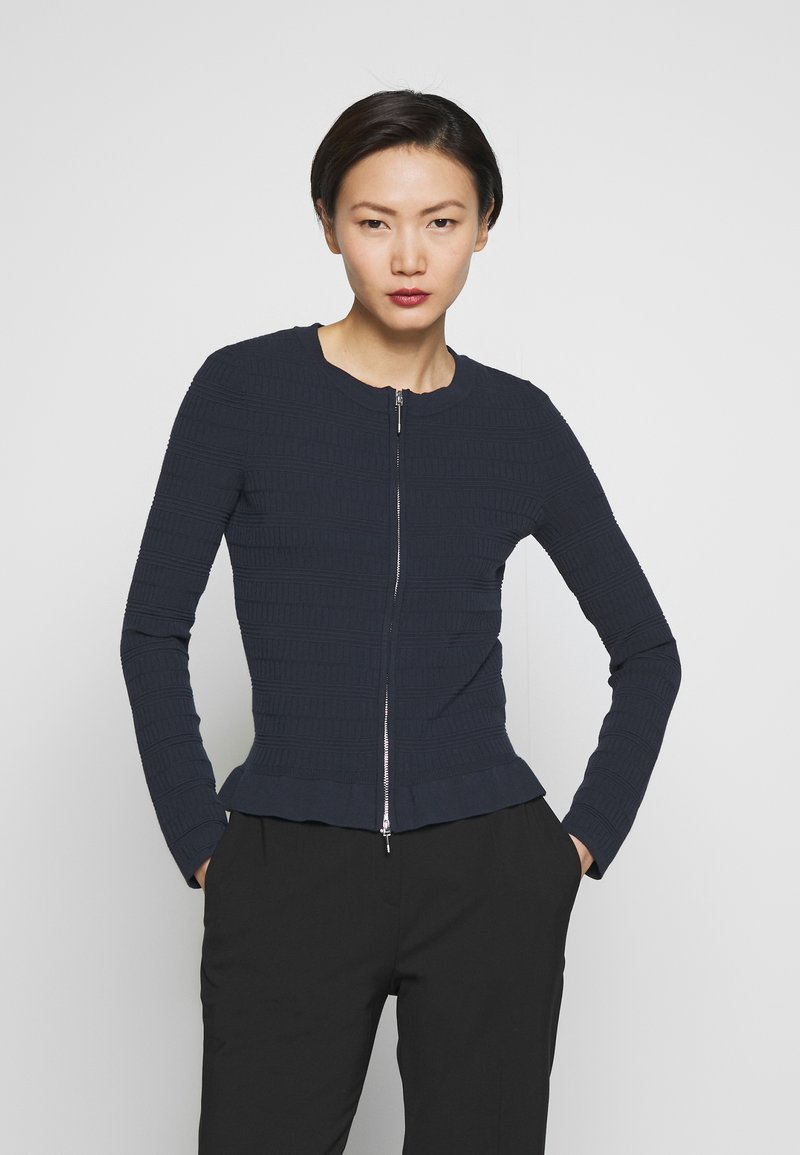 HUGO - SANERY - Cardigan - open blue