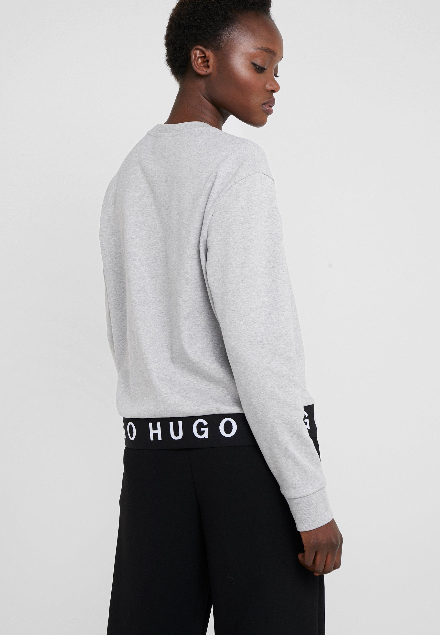 Hugo NicciT shirt Longues À Manches Grey P8k0wOnX