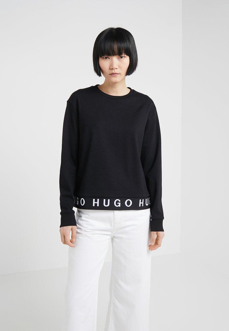 HUGO - NICCI - Top sdlouhým rukávem - black