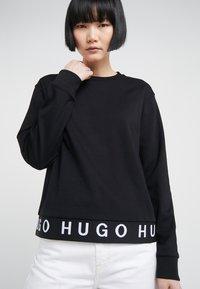 HUGO - NICCI - Top sdlouhým rukávem - black - 4