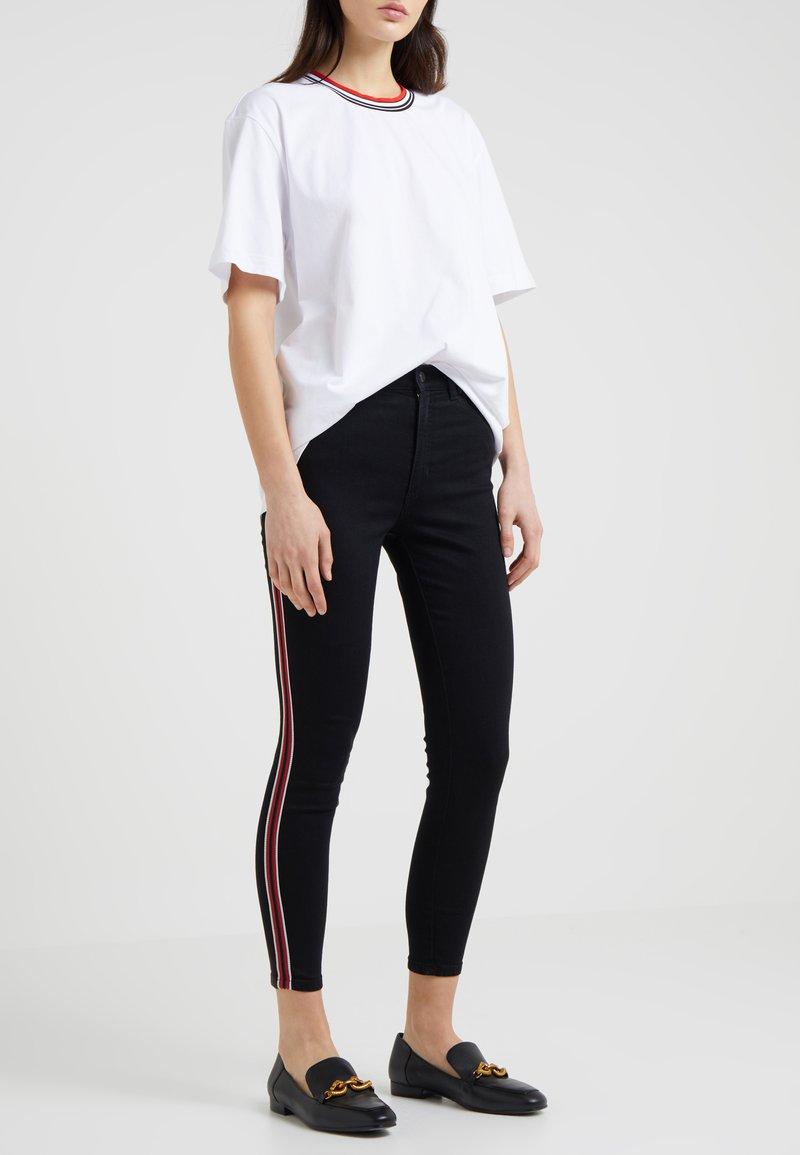 HUGO - GERNA - Jeansy Skinny Fit - black