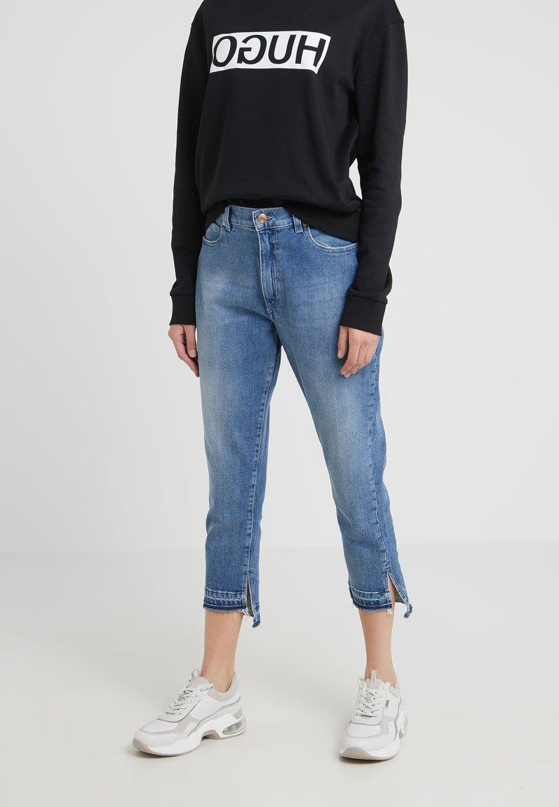 HUGO - GERENA - Jeans slim fit - meduim blue