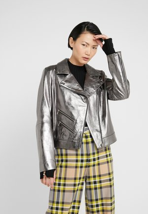LIMANA - Leather jacket - open miscellaneous