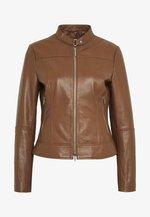 LORENAS - Kožená bunda - rust/copper