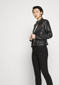 HUGO - LORENAS - Leather jacket - black - 4