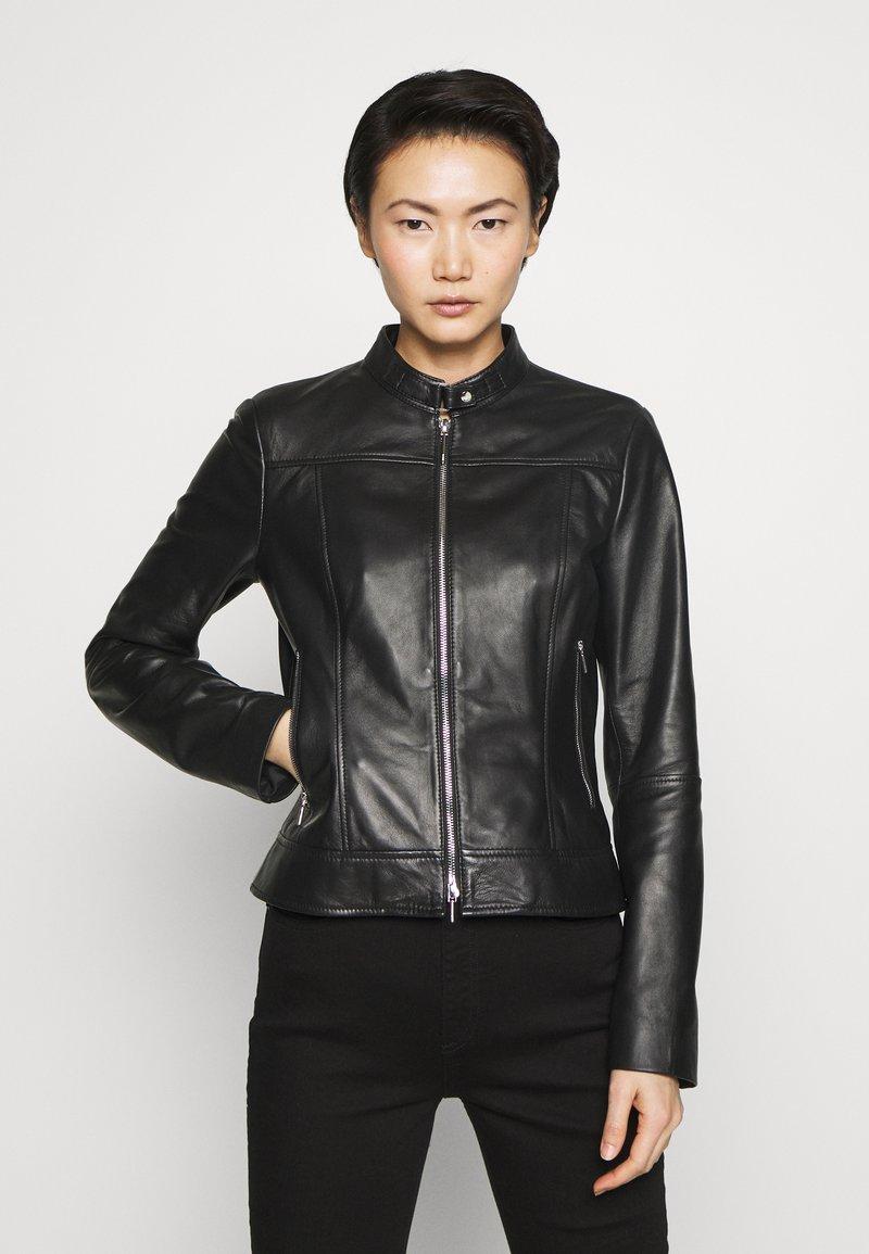 HUGO - LORENAS - Leather jacket - black