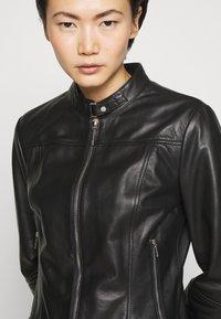 HUGO - LORENAS - Leather jacket - black - 7