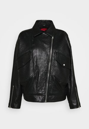 LEVARI - Leren jas - black
