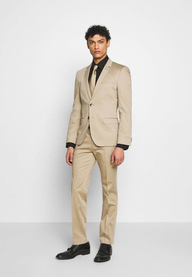 HUGO - ADD ON ASTIAN/HETS - Kostym - medium beige