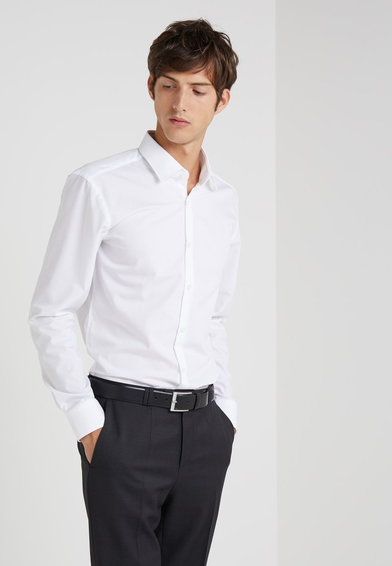 HUGO - JENNO SLIM FIT - Finskjorte - open white